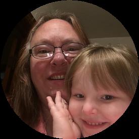 One of my grandchildren and me